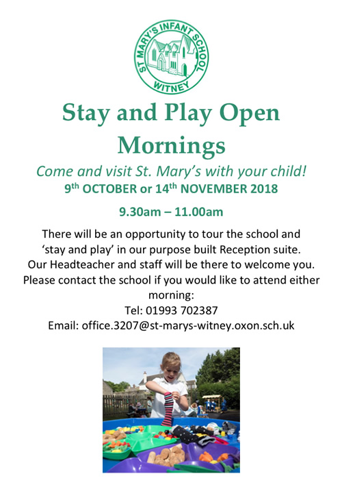 stay and play open mornings